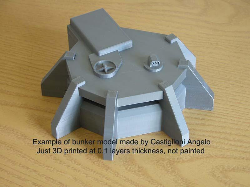 Infantry Command Bunker 3D STL files for W40K